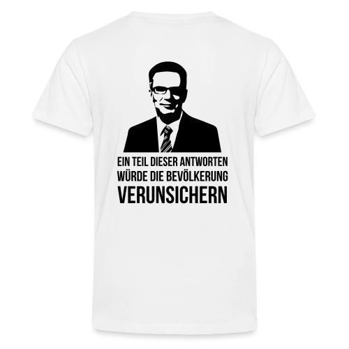 Verunsicherung - Teenager Premium T-Shirt