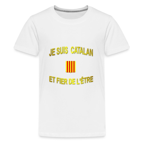 Tee-Shirt supporter du pays CATALAN - T-shirt Premium Ado