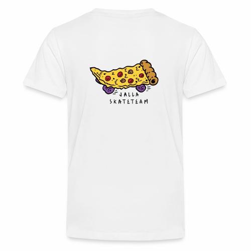 JallaSkateTeam pizza logo - Premium T-skjorte for tenåringer