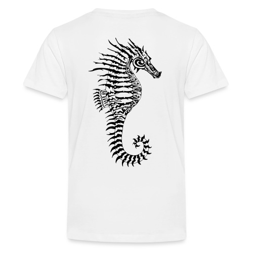 Alien Seahorse Invasion - Teenage Premium T-Shirt