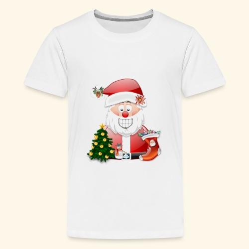 Father Christmas Scene 5 - Teenage Premium T-Shirt