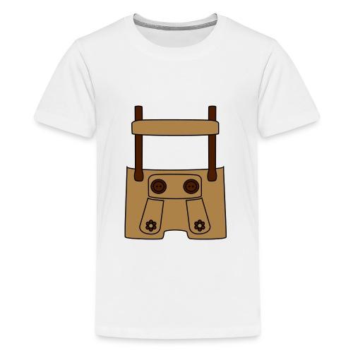 Meine erste Lederhose (vorne) - Teenager Premium T-Shirt