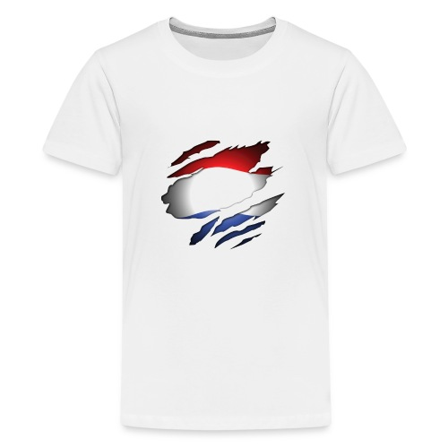 Dutch Inside: Vlag - Teenager Premium T-shirt
