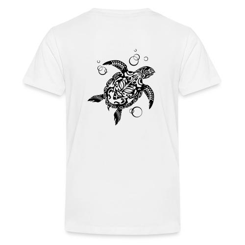 Watchful Turtle - Teenage Premium T-Shirt