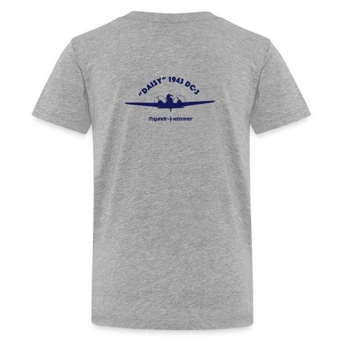 Daisy front silhouette 1 - Premium-T-shirt tonåring