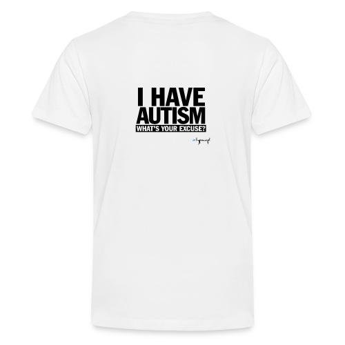 I have autism... (black) - Koszulka młodzieżowa Premium