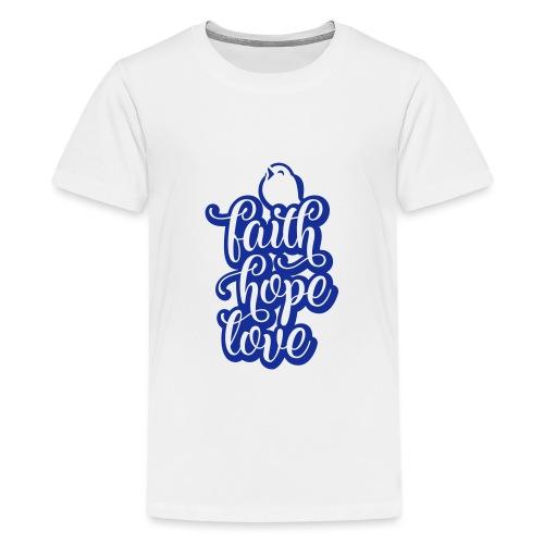 typo kinder 2016outline c - Teenager Premium T-Shirt