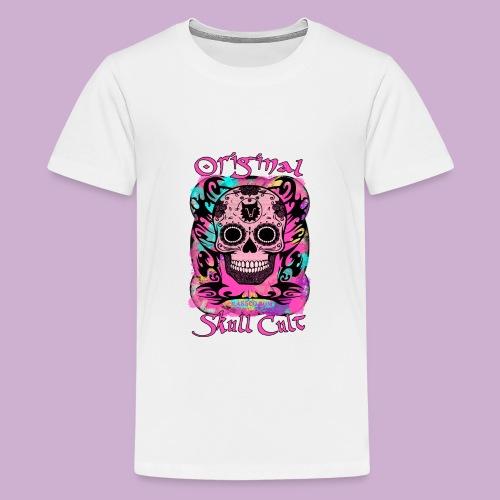 ORIGINAL SKULL CULT PINK - Teenager Premium T-Shirt