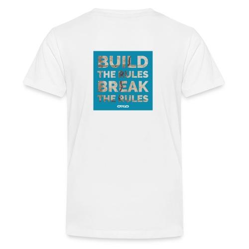 Rules Shirt blau - Teenager Premium T-Shirt