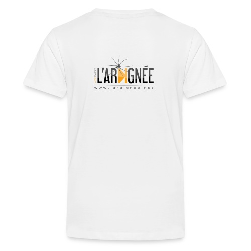 L'ARAIGNÉE, logo noir - T-shirt Premium Ado