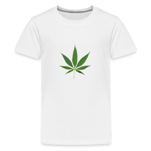 2000px-Cannabis_leaf_2 - Teenager premium T-shirt