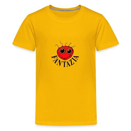 2 Colour Fantazia Smiley Face - Teenage Premium T-Shirt