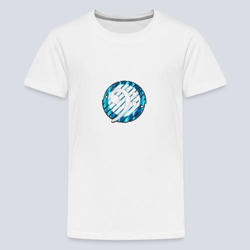 BassClef blue/white - Teenage Premium T-Shirt