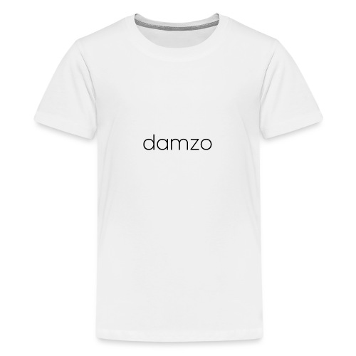Damzo Simple 2 Sided Text Tee - Teenage Premium T-Shirt