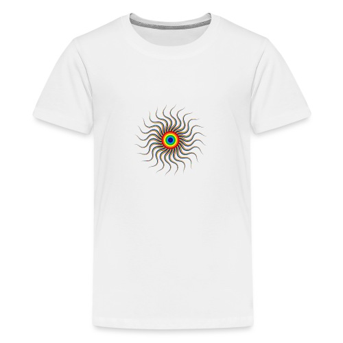 Abstract sun tote bag - Teenage Premium T-Shirt