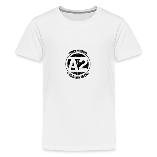 A2 Logo Envejecido - Camiseta premium adolescente