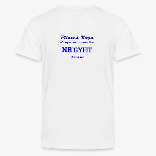 NRgyfit Team bleu Tshirt by NR'gyfit Nature - T-shirt Premium Ado