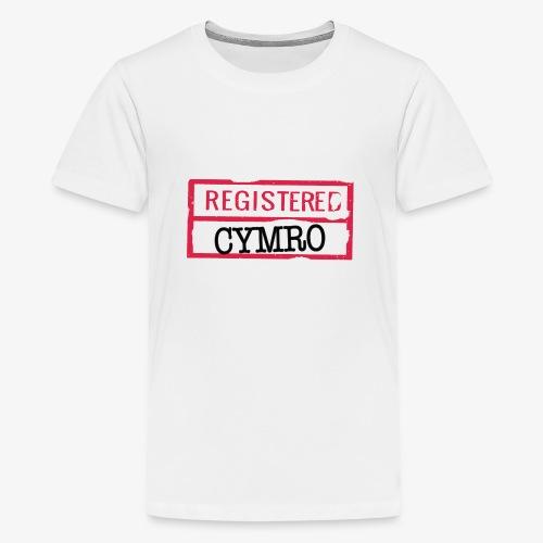 REGISTERED CYMRO - Teenage Premium T-Shirt