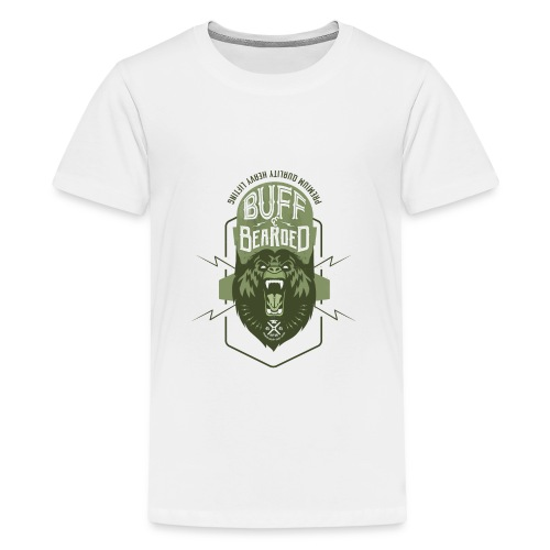 HVYW8 Buff and Bear-ded - Teenage Premium T-Shirt