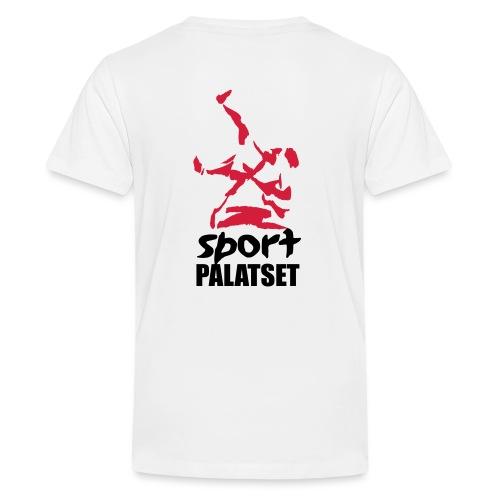 Motiv med svart och röd logga - Premium-T-shirt tonåring