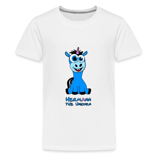Hermann the Unicorn front - Teenager Premium T-Shirt