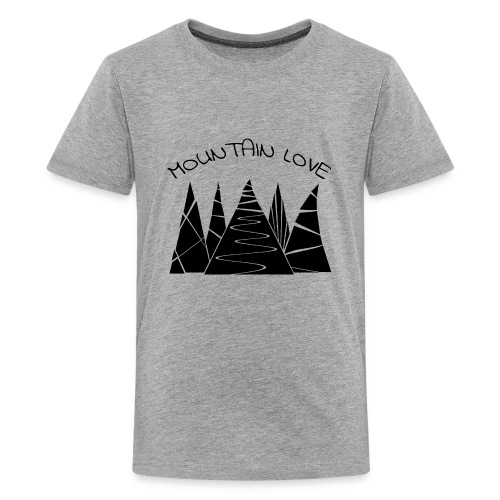 Outdoor Berge Alpen Mountain Love - Teenager Premium T-Shirt