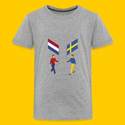Walking with flags - Teenager Premium T-shirt