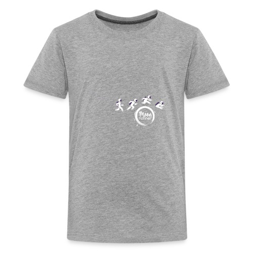 To the moon - Astronaut Moon Runner - T-shirt Premium Ado