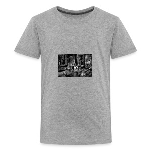 Marc podcasting in the zombie apocalypse - Teenage Premium T-Shirt
