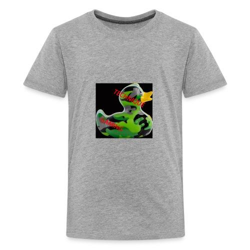 YOUTUBE NAME WITH A CAMO DUCK - Teenage Premium T-Shirt