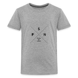 strong far nation - Kreuz - Teenager Premium T-Shirt