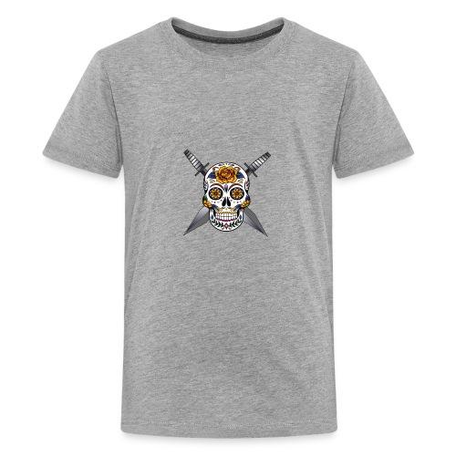 Cross skull swords - T-shirt Premium Ado