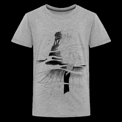 Ein Ort (grau) - Teenager Premium T-Shirt