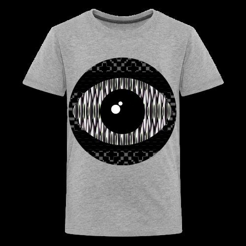 svart konstigt öga - Premium-T-shirt tonåring