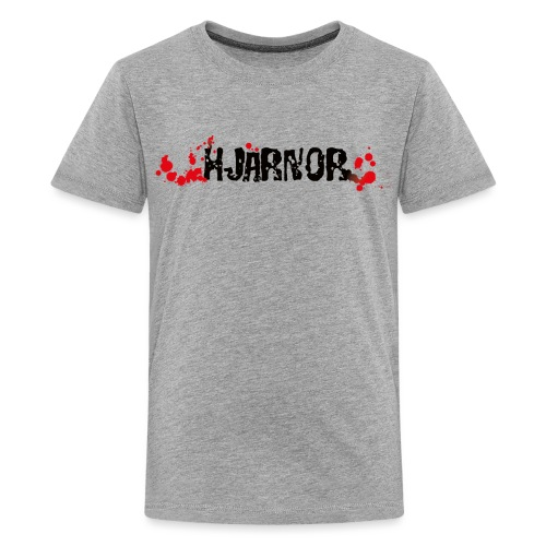 Hjärnor logo svart - Premium-T-shirt tonåring