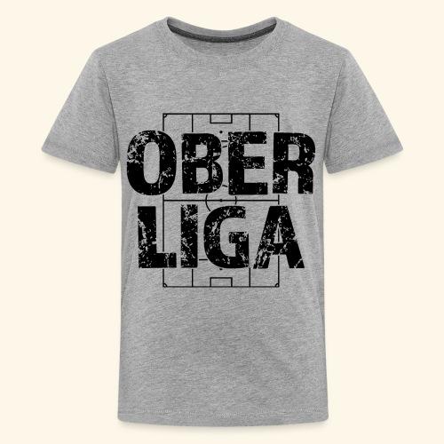 OBERLIGA im Fußballfeld - Teenager Premium T-Shirt