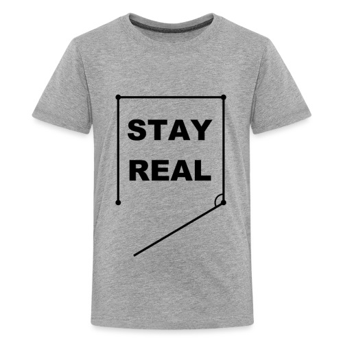 STAYREAL BLACK TRANS - Teenage Premium T-Shirt