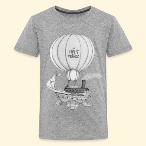Bateau volant steampunk - Le Haut de France - T-shirt Premium Ado