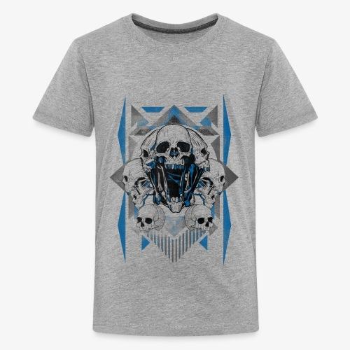 T-shirt de crâne Jual Kaos Hipster - T-shirt Premium Ado