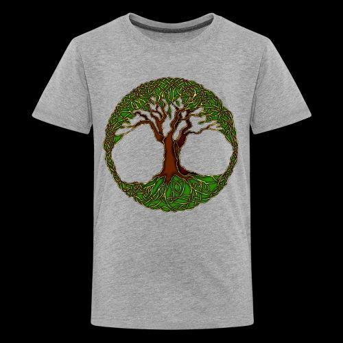 Tree of Life - colour - Teenage Premium T-Shirt