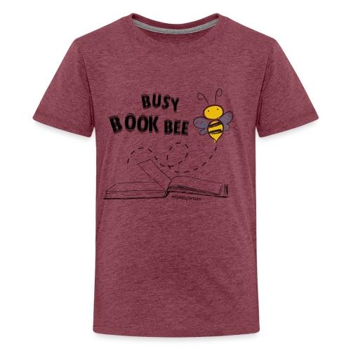 Bees5-1Bienen und Bücher   save the bees - Teenage Premium T-Shirt