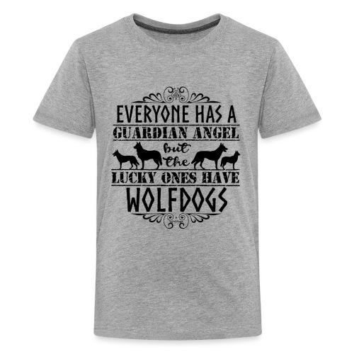 Wolfdog Angels II - Teinien premium t-paita