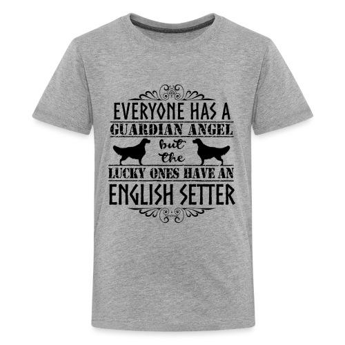English Setter Angels II - Teinien premium t-paita