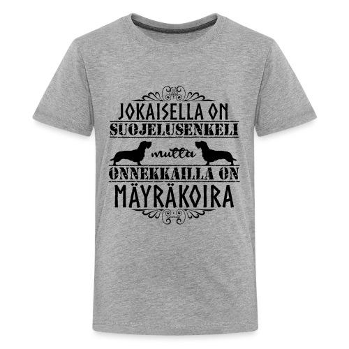 Mäyräkoira KK Enkeli 2 - Teinien premium t-paita