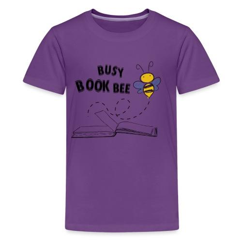 Bees5-2 Bienen und Bücher   save the bees - Teenage Premium T-Shirt