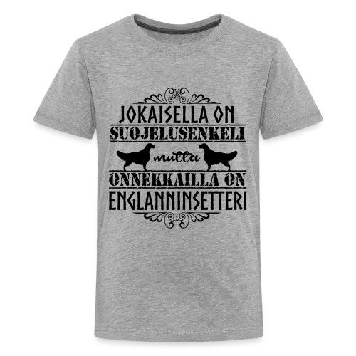 Englanninsetteri Enkeli II - Teinien premium t-paita
