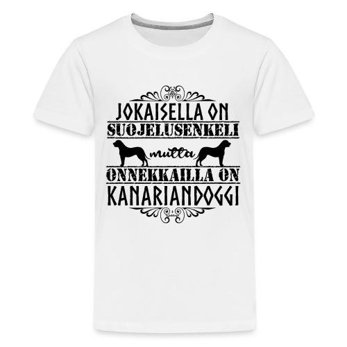 Kanariandoggi Enkeli II - Teinien premium t-paita
