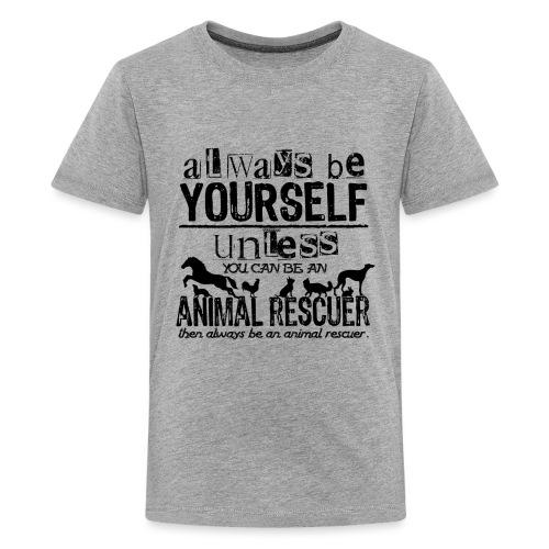 Animal Rescuer Black - Teinien premium t-paita