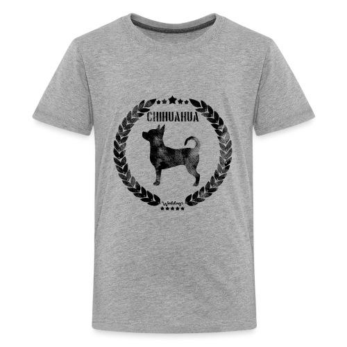 Chihuahua Army Black - Teinien premium t-paita