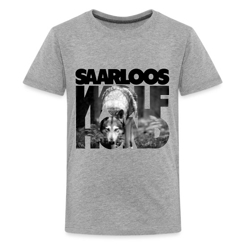 Saarloos Wolfhond III - Teinien premium t-paita